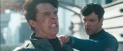 Spock neckpinches Khan