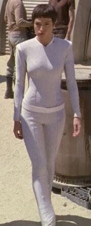 T'Pols white desert uniform