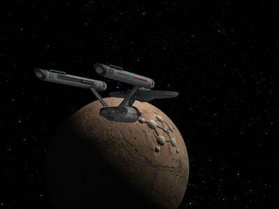 USS Enterprise erreicht Memory Alpha