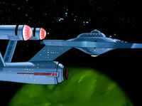 Enterprise bei Delta Theta III
