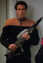 Security guard in sickbay 2, 2374