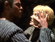 Tuvok and Kes, mind meld