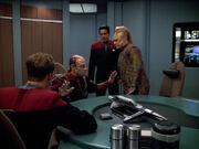 Verhandlungen mit einem Unterhändler an Bord der Voyager