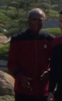 ... as a Starfleet admiral