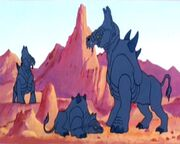 Zootier auf Lactra VII 1