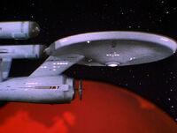 Enterprise im Orbit von Vulkan, Gamma Trianguli VI