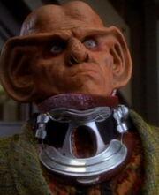 Quark in a neck brace