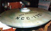 USS Enterprise 11-foot studio model at SFMA, saucer dorsal side