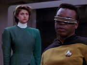 Brahms hologram and La Forge
