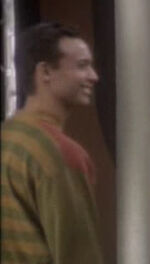 Human smiling at Dax