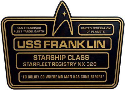 Raumschiffsammlung Widmungsplakette Franklin