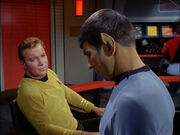 Spock disagreeing with Kirk, 2267