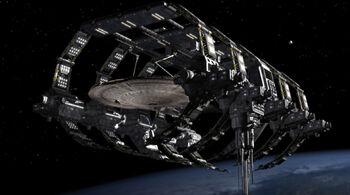 <i>Enterprise</i> in spacedock