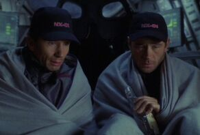 Trip and Reed in Shuttlepod 1