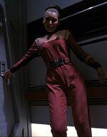 Woman on corridor tuc