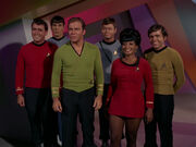 Enterprise crew on Mudd