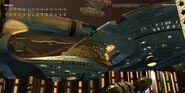 2010 Star Trek Ships of the Line calendar February spread