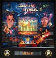 Data East Star Trek pinball backglass