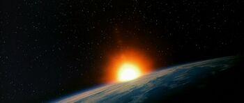 Khitomer system from orbit