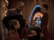 Sisko und Kira beim Peldor-Fest