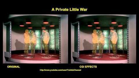 """TOS """"A Private Little War"""" - """"Guerre et magie"""" - comparaison des effets spéciaux"""