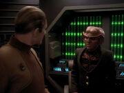 Odo und Quark sind eingeschlossen