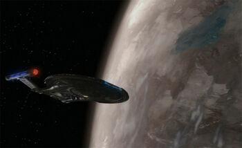 Enterprise orbiting the Torothan homeworld