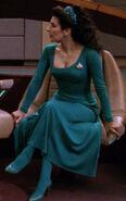 Troi turquoise dress