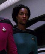Female science officer, 2366