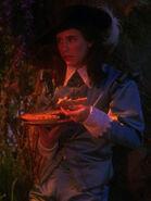 Hologramm von Wesley Crusher 2366 mit Kuchen
