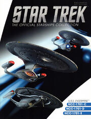 Star Trek Official Starships Collection Enterprise C-D-E 3-pack