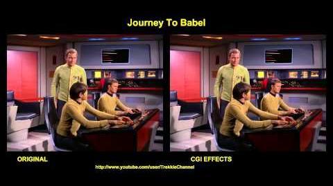"""TOS """"Journey to Babel"""" - """"Un tour à Babel"""" - comparaison des effets spéciaux"""