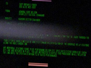Kurt Nelson on a Starfleet Command order