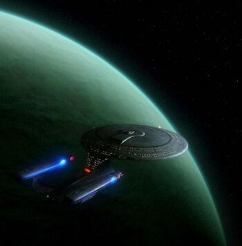 Barzan II from orbit