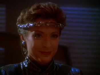 "<a href=""/wiki/Intendant"" title=""Intendant"">Intendant</a> Kira Nerys in <a href=""/wiki/2372"" title=""2372"">2372</a>"