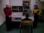 Picard La Forge verhören Data
