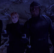 Worf wearing covert ops uniform
