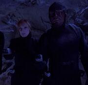 Worf wearing covert ops uniform