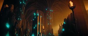 Cristal de tiempo panoramica Monasterio Klingon Boreth DIS Through the Valley of Shadows