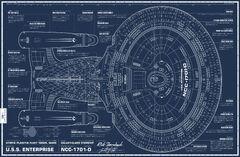 De Agostini Build the USS Enterprise-D Sternbach blueprints