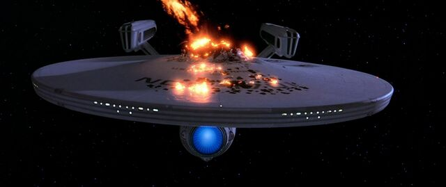 USS Enterprise self destructs