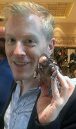 Anthony Rapp with Eaglemoss Collections tardigrade