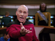 Picard fighting for Lwaxana
