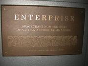 Plaque USS Enterprise (NX-01)