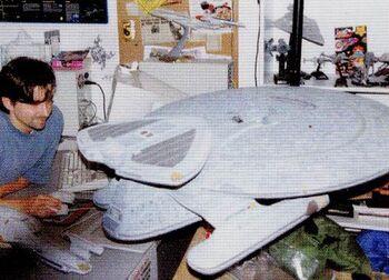 …in the process of digitizing his namesake Starfleet vessel..