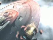 Die Voyager fliegt zwischen die Pulsare