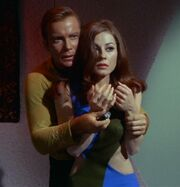 Kirk and Andrea, android shield