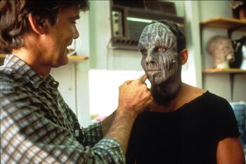 Durant getting his makeup applied for <i>Generations</i>