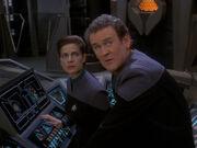 Nachricht von Worf erreicht Deep Space 9