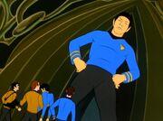 Außenteam trifft auf riesigen Spock